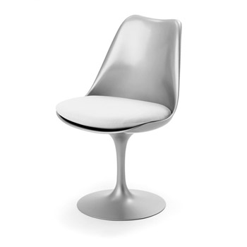 platinum-finsih-eeron-saarinen-tulip-side-chair1-fixed-base